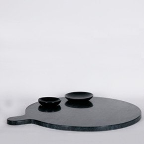 Black Marble Food Platter - Carved Additions - Treniq