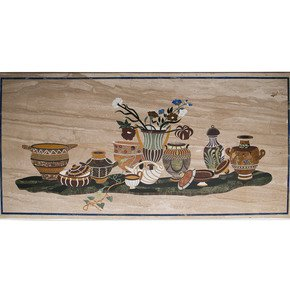 Florentine Inlay Tabletop - Carved Additions - Treniq