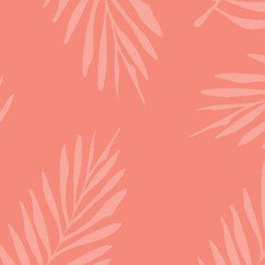 Two Tone Falling Pink Fern Fabric