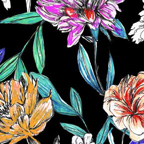 Bright Floral Fabric I