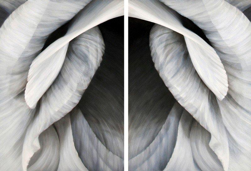 Untitled no. 30  diptych   vertical orientation  36 x 50