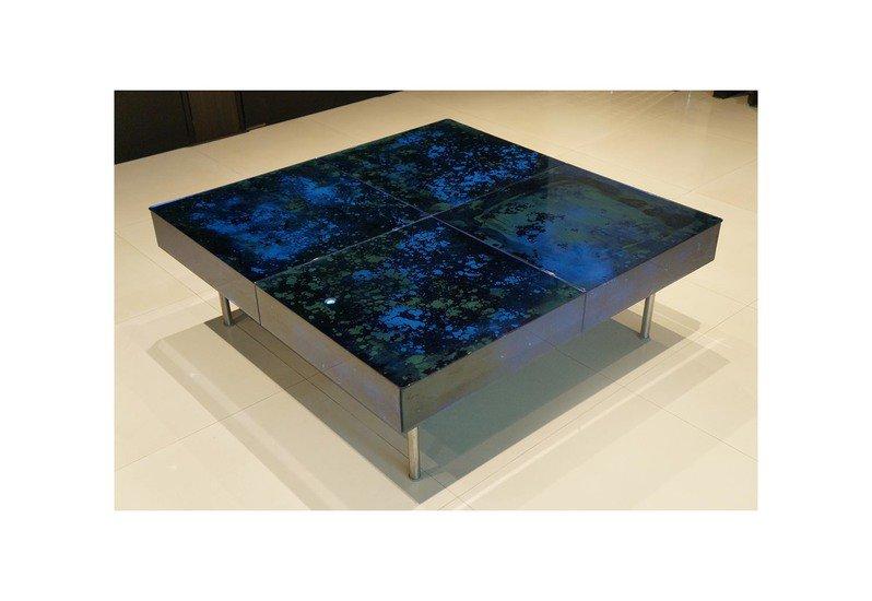 Coffee table set studio cast glass treniq 1