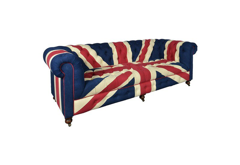 Blue union jack chesterfield sofa shakunt impex pvt. ltd. treniq 1