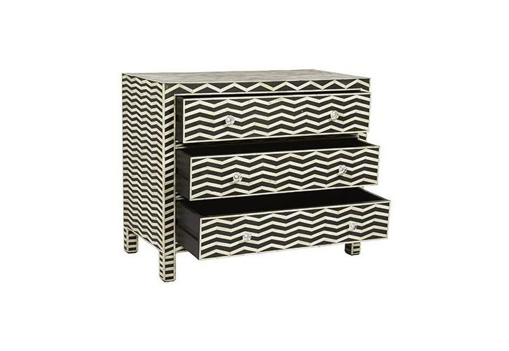 Mother of pearl 3 drawers cabinet shakunt impex pvt. ltd. treniq 1