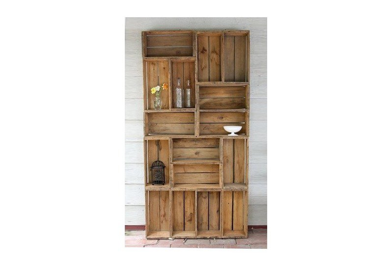 Reclaimed wood display cabinet shakunt impex pvt. ltd. treniq 1