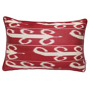 Ikat Cushion Red Sky