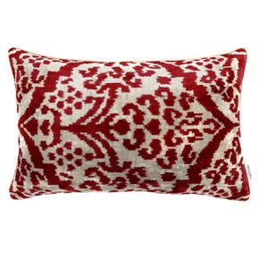 Ikat Cushion Lingonberry