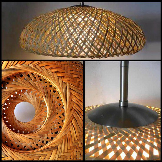 T038 bamboo shade pendant tl custom lighting