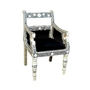 Bone Inlay Chair Armchairs Shakunt Impex Pvt. Ltd. Bone Inlay Chair By  Shakunt Impex Pvt. Ltd.