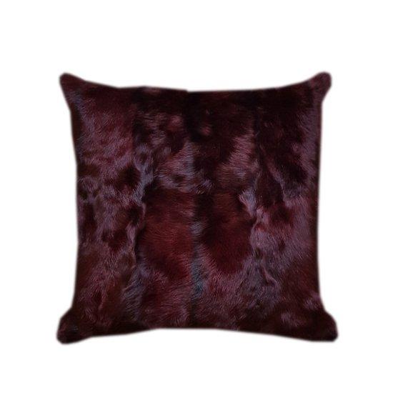 Burgundy kid skin cushion