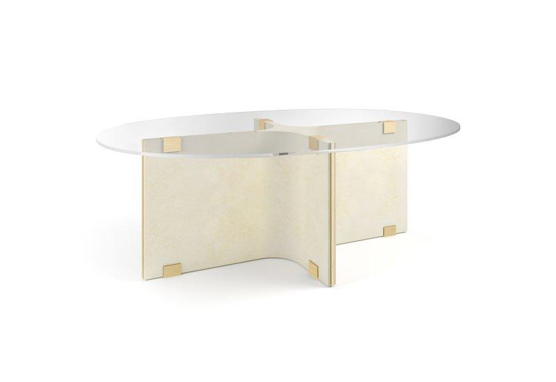 Tavolo basso ovale maxime center table marioni treniq 1