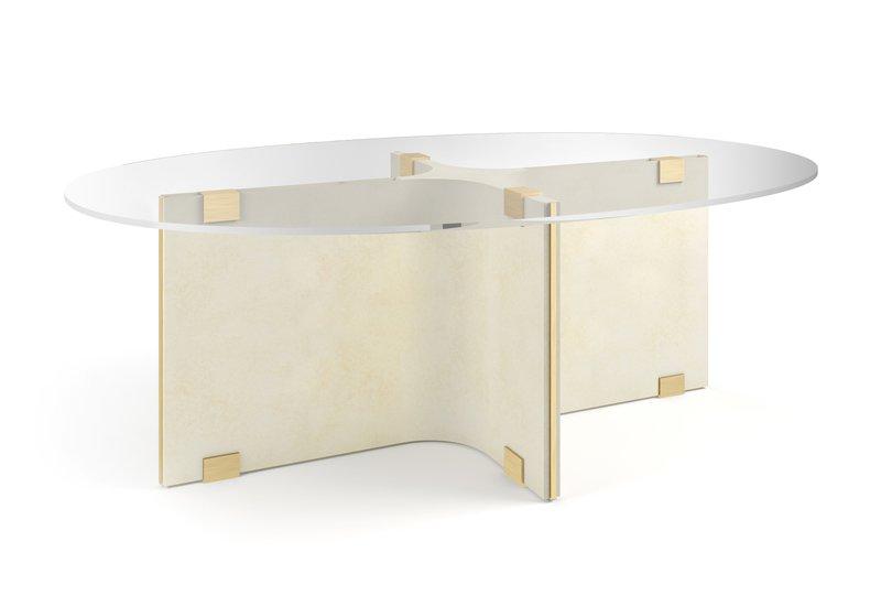 Tavolo basso ovale maxime center table marioni treniq 2