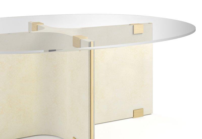 Tavolo basso ovale maxime center table marioni treniq 4