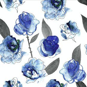 Watercolour Floral Fabric