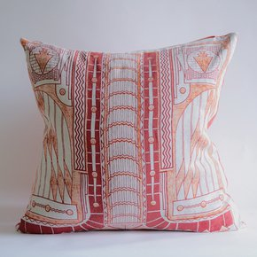 Western Avenue Cushion (Coral)