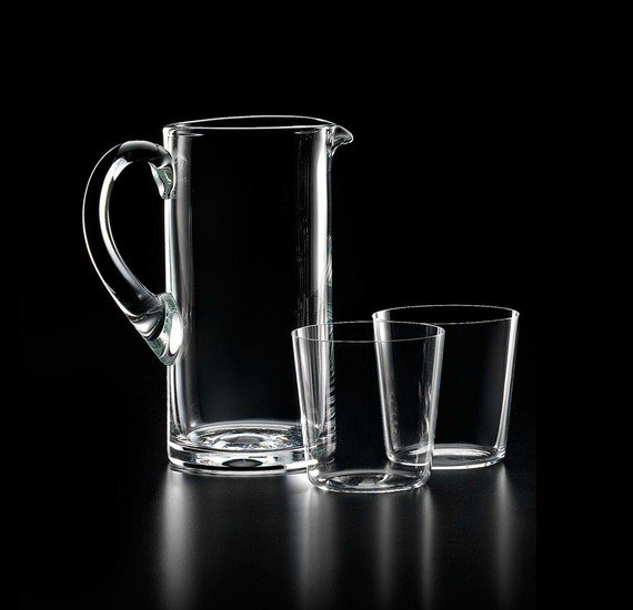 Nason moretti hs pitcher and glasses