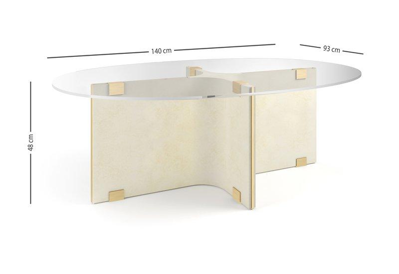 Tavolo basso ovale maxime center table marioni treniq 6