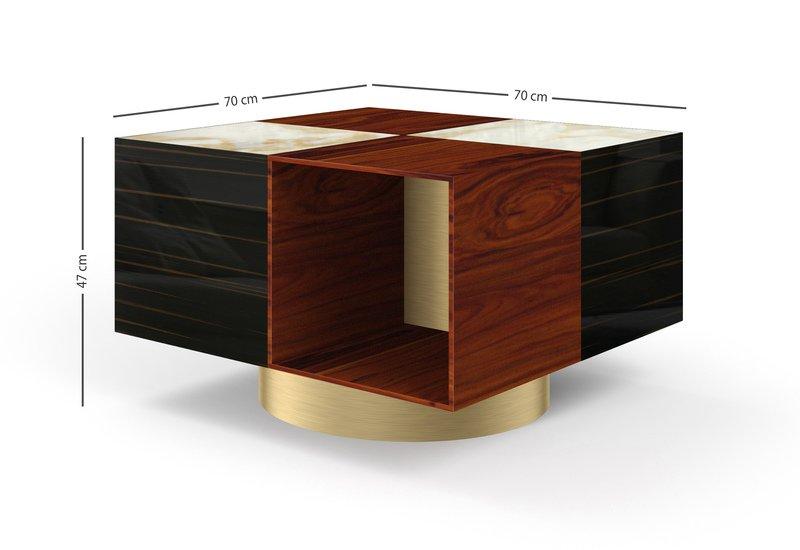 Tavolo basso quadrato fred center table marioni treniq 7