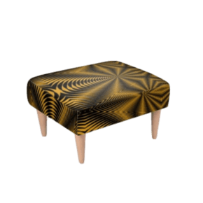 Footstool-Black-&-Gold-Zebra-Print_Beryl-Phala_Treniq_0