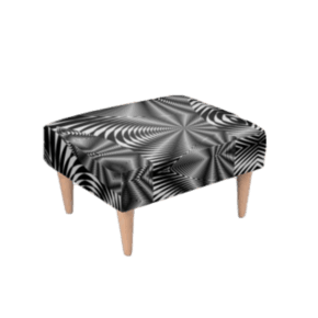 Footstool Black & White Zebra Print