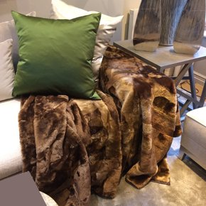 Shorn Lamb Throw - Medium Brown