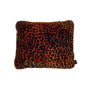 Animal Print Lambs wool Cushion - Orange