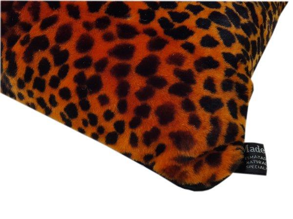 Animal print lamb cushion   orange   600px