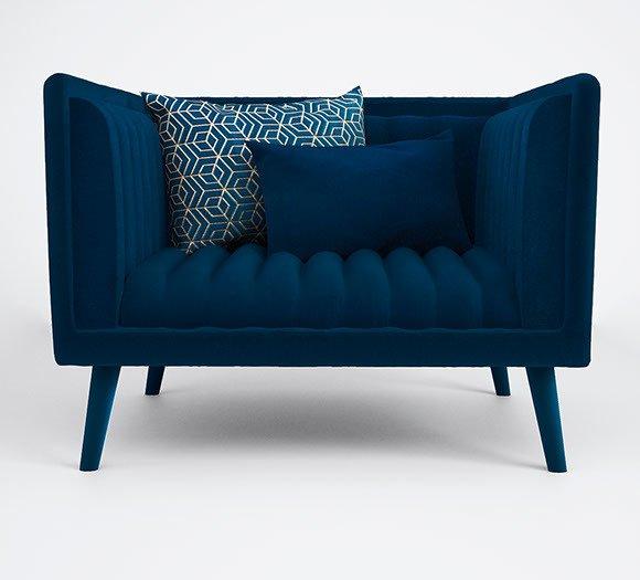 Azurite armchair by muranti v1