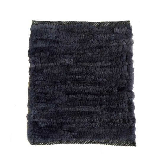 Hand woven lamb rug  dark grey. wool.
