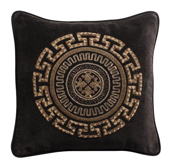 Meandros zardosi cushion 17x17