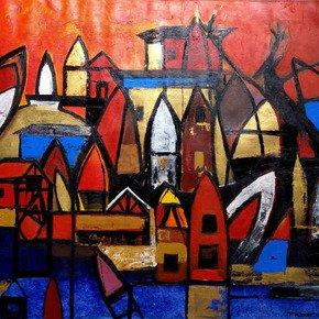 Pratap Rana-  Memories of a Childhood II Painting