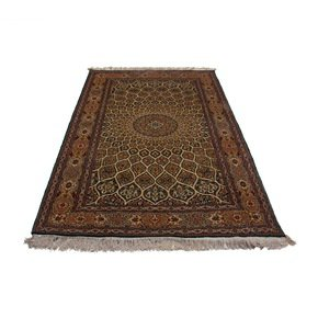 Kashmiri Handmade Hand Knotted Silk on Silk Carpet
