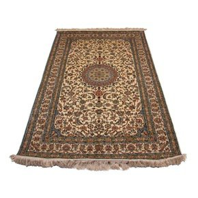 Kashmiri Handmade Hand Knotted Silk on Silk Carpets