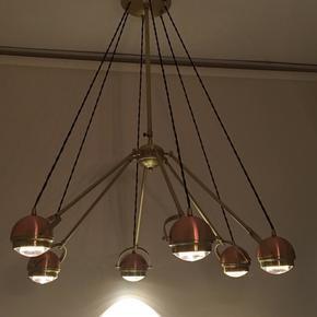 6 arm copper suspension light