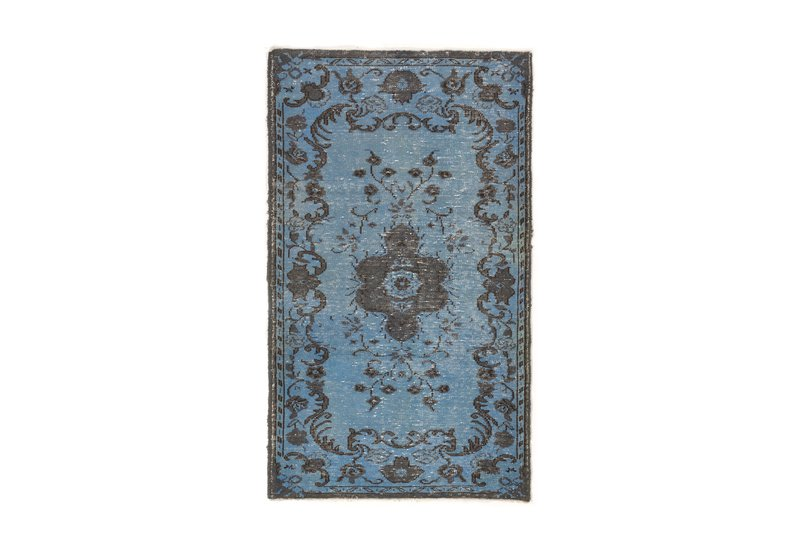 Light blue   gray color overdyed vintage turkish rug rug specialist treniq 1 1489665942936