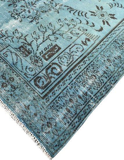 Blue overdyed rug istanbul carpet  treniq 1 1490615015742