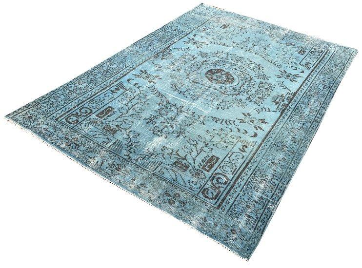 Blue overdyed rug istanbul carpet  treniq 1 1490615015733