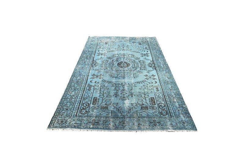 Blue overdyed rug istanbul carpet  treniq 1 1490615015704