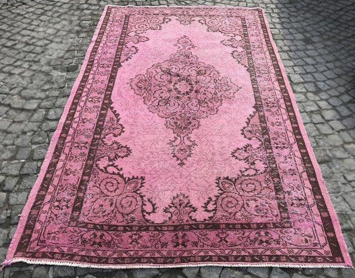 Pink overdyed handmade rug istanbul carpet  treniq 6 1490953667414