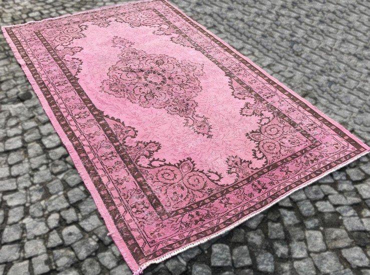 Pink overdyed handmade rug istanbul carpet  treniq 6 1490953667418