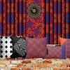 Cushion blue and orange weave print design beryl phala treniq 2 1491129872274