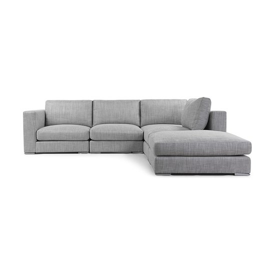Grey, Metal, Contemporary, Sofas & Sectionals
