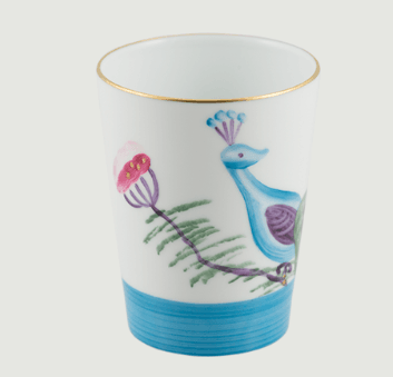 Limoges handpanted peacock   blossom goblet set 4 rachel bates interiors ltd treniq 1 1491403533346