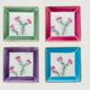 Limoges hand painted medium square dish   set of 4   mixed colours rachel bates interiors ltd treniq 7 1491405958206