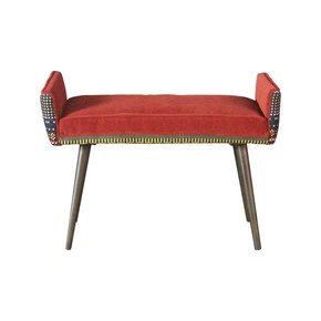 Studio-Series:-Backless-Vanity-Size-Stool-In-Folklorica-+-Flame-Red_Five-Finger-Furnishings_Treniq_5