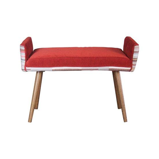 Studio series  backless vanity size stool  in gray geometric   flame red  five finger furnishings treniq 1 1491408196604
