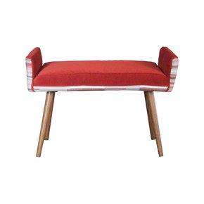 Studio-Series:-Backless-Vanity-Size-Stool,-In-Gray-Geometric-+-Flame-Red-_Five-Finger-Furnishings_Treniq_1