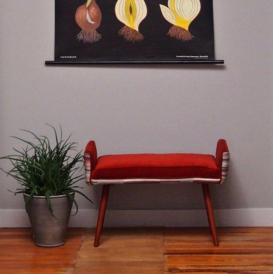 Studio series  backless vanity size stool  in gray geometric   flame red  five finger furnishings treniq 1 1491408279928