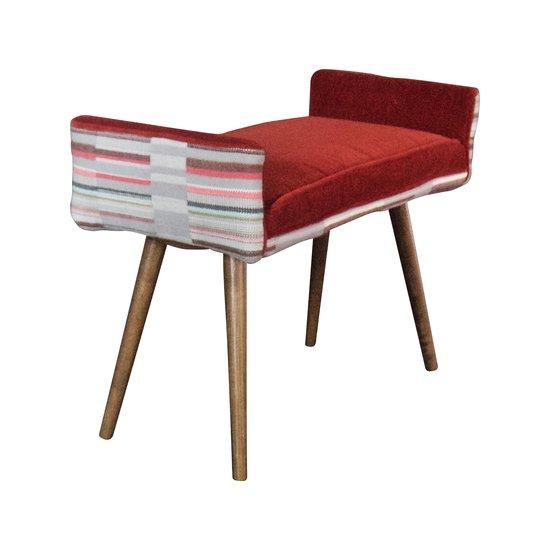 Studio series  backless vanity size stool  in gray geometric   flame red  five finger furnishings treniq 1 1491408344283