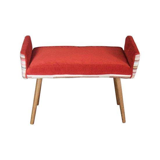 Studio series  backless vanity size stool  in gray geometric   flame red  five finger furnishings treniq 1 1491408363209